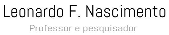 Leonardo F. Nascimento